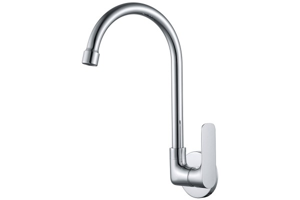 Wall-mounted cold kitchen tap