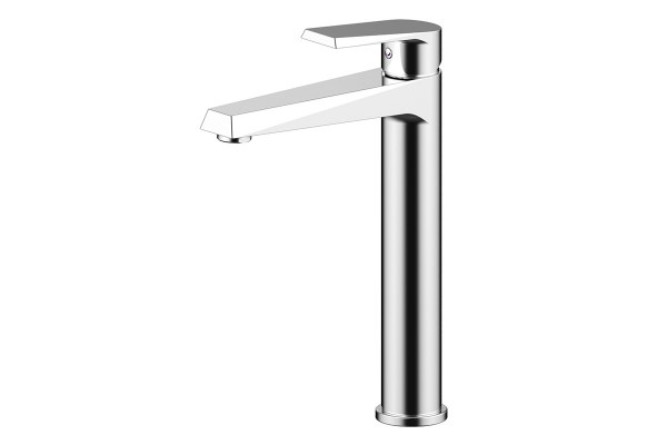 Single lever high basin mixer